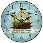 "Thyme in the Garden LARGE WALL CLOCK 10""- 48"" Quiet Non-Ticking WOOD HANDMADE"
