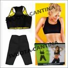 COMPLETO TOP FASCIA LEGGINGS PALESTRA SPORT FITNESS DIMAGRANTE HOT SHAPERS SAUNA