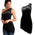 Sexy Women Ladies Casual One Shoulder Short Sleeve Tank Tops Tight Blouse Shirt