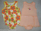 NWT GIRLS CARTER'S 2 PACK ROMPER SIZE 18 & 12 MONTHS