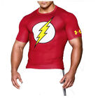 UNDER ARMOUR NEW Mens Red The Flash Compression Tshirt Gym Clothing BNWT