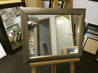 57mm ANTIQUE SILVER RIBBED WALL AND OVERMANTLE MIRROR - VARIOUS SIZES AVAILABLE