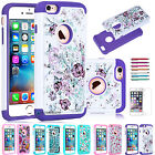 2016 Bling Crystal Shockproof Hybrid Armor Case Cover for Apple iPhone 6 6S Plus