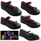 GIRLS CHILDRENS BACK TO SCHOOL SHOES FORMAL CASUAL PARTY WEDDING FLAT FANCY SHOE
