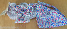 ROXY baby girl summer beach set swim pants and bandana hat 12-18 m BNWT