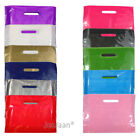 100 COLOR PLASTIC CARRIER BAGS GIFT FASHION SHOP STRONG PATCH HANDLE 22