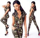 Sexy Women's Military Denim Jeans Playsuit Jumpsuit Overall Skinny Slim N 721