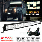 Cool Curved 180W 34'' Combo Work LED Light Bar Driving Offroad SUV Car +Wiring