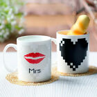 Ceramic Cold Heat Sensitive Color Changing Mug Coffee Tea Cup Hot Reactive Cups