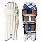 adidas Elite Mens Cricket Batting Pads Leg Guards White/ Blue/ Orange