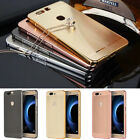 Aluminum Metal Bumper Brushed Push-Pull PC Back Cover Case For Huawei Honor V8