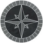 18 Tile Mosaic Medallion Mariners Compass Gray Black Slate Backsplash Flooring