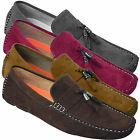 Mens Suede Loafers Designer Driving Tassle Shoes Slip On Moccasins Leather Smart