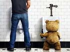 Ted Movie Mark Wahlberg Bear Toilet Wall Print POSTER