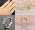 Eternity VINE 14K White/Yellow/Rose Gold Diamond Engagement Ring Wedding Band