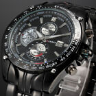Curren Luxury Men's Date Black Stainless Steel Sport Military Army Wrist Watch