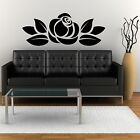Rose Wall Feature with foliage - Wall Art / Wall Sticker / Wall Decor 4 size`s