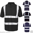 High Visibility Hi Vis Viz Reflective Tape Security Work Safety Top Shirts New