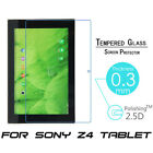 Premium Real Tempered Glass Screen Protector For Sony Xperia Z4 Z2 Tablet 10.1""