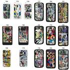 DC Marvel comic book strips cover case for Samsung No.3