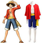 One Piece Monkey D Luffy New World Costume Outfits for Cosplay/Halloween