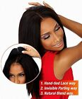 "Hairpiece top Lace Closure 4""x4"" Top Swiss Lace Free/Middle/3 Ways Part Closure"