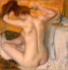 Edgar Degas Woman combed canvas print giclee 8X8&12X12
