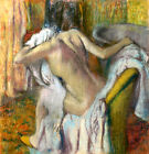Edgar Degas After bathing canvas print giclee 8X8&12X12