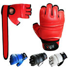 Leather Gel Combat Gloves Boxing Punch Bag Martial Art MMA Karate Mitts Gloves