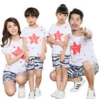 Fashion Summer Family  Sets mother daughter father son t shirts + Pants Outfits