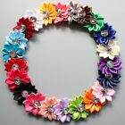 "2"" Satin Ribbon Multilayers DIY Flower With Rhinestone baby child for clips lot"
