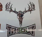 Camo Tagout Deer Skull S4 Vinyl Sticker Decal whitetail Buck hunting bow