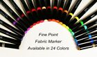1pc Marvy Uchida Fine Point Fabric Marker Acid Free 24 Colors Available