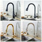Deck Mount 4 Styles Kitchen Sink Faucet Pull Out Sprayer Single Lever Mixer Tap