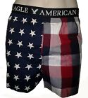 NWT AMERICAN EAGLE OUTFITTERS MENS STARS & PLAID BOXER NEW AEO USA BOXERS