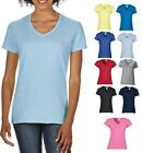 Ladies Womans GREEN PURPLE BLUE GREY V-Neck Vee Neck T-Shirt Tshirt