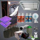 All in One Setup LED Grow Lights Tent Nutrients Fan Filter Hydroponics T5 Kit
