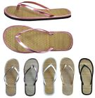 New Ladies' Bamboo Flip Flop Simple Sandals --1212,  all colors size 6-11