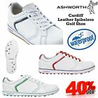 ASHWORTH CARDIFF 2 ADC LEATHER SPIKELESS GOLF SHOES WATERPROOF GOLF SHOES NEW