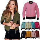 Ladies Womens Retro MA1 Flight Vintage Bomber Biker Army Summer Jacket
