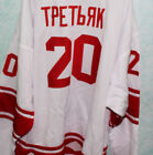 VLADISLAV TRETIAK 20 CCCP RUSSIA HOCKEY WHITE JERSEY NEW SEWN ANY SIZE