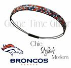 NWT Denver Broncos Team Color Rhinestone Headbands Wear w/ Your Game Day Jersey