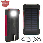 Solar Power Bank 300000mah Dual USB Portable External Battery Charger For phone
