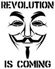 ANONYMOUS Revolution vinyl mask decal sticker choose color 4Chan
