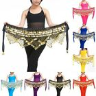 Indian Belly Dance Hip Scarf Belt Skirt velvet Golden copper belt Hula Costume
