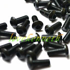 50pcs M4 Black 10.9 Alloy Steel Allen Button Head Round Hex Socket Screw Bolt