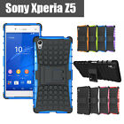 Case For SONY Xperia Z5 Cover  TPU Shockproof Heavy Duty With Kickstand