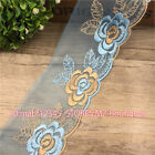 FP150A 8cm, 1yard Delicate embroidered flower tulle lace trim Sewing Handicraft