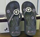 Montana West Flip Flops Bling Texas Star Brown Western Cowgirl Rodeo Rodeo New