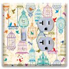 Birds Cages LIGHT SWITCH PLATE COVER WALL OUTLETS Bedroom Decor Kitchen
